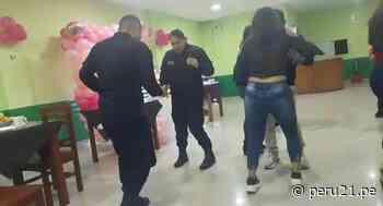Lambayeque: Filman a policías participando de una fiesta dentro de comisaría pese a pandemia   VIDEO - Diario Perú21