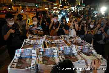 Final print edition of Hong Kong's pro-democracy Apple Daily newspaper sells out