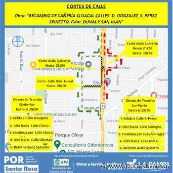 APA continúa trabajando en obras de saneamiento en Santa Rosa - La Pampa La Arena