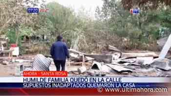 Queman casa de una familia humilde en Santa Rosa del Aguaray - ÚltimaHora.com