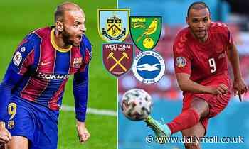 Barcelona: Martin Braithwaite 'is being chased by West Ham, Brighton, Burnley and Norwich'