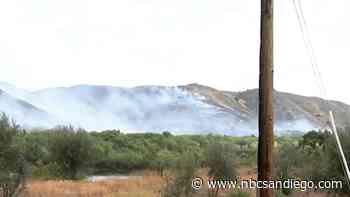 Brush Fire Sparks Along SR-76 Near Pala Casino - NBC 7 San Diego