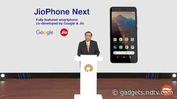 JioPhone Next With Optimised Android Experience Launched in India: Price, Specifications