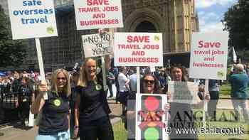 Angry Ipswich holiday operators join Westminster protest - East Anglian Daily Times