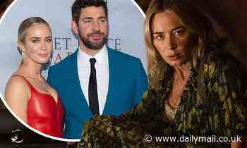 Emily Blunt reveals she and husband John Krasinski used to drink whisky after filming - Daily Mail