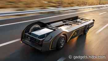 French Engineering Firm Gaussin Unveils 'World's First' 100 Percent Hydrogen-Powered Skateboard for Freight Trucks
