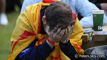 Euro 2020: Scotland crash out after defeat to Croatia - while England top Group D - Sky News