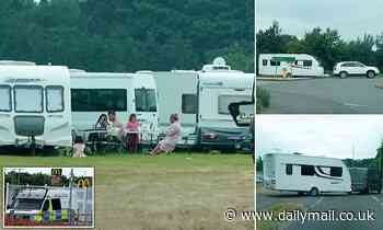 Market town breathes huge sigh of relief as gypsies finally pack up and leave Christian festival