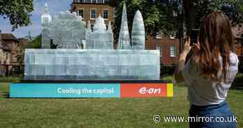 Giant ice sculpture larger than a double decker bus unveiled in London