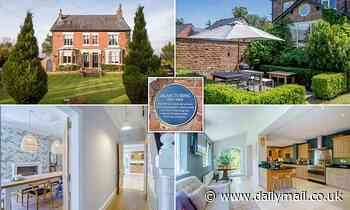 Alan Turing's former Victorian five-bed Cheshire home with blue plaque hits market for £1.1m