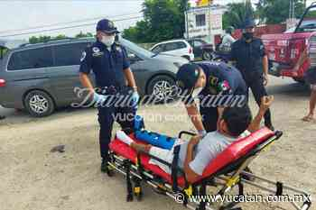 Accidente en la Mérida-Tixkokob arroja un motociclista herido - El Diario de Yucatán
