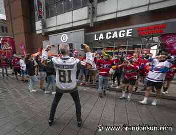 Habs' playoff run helps Montreal's COVID-hit bars - Brandon Sun
