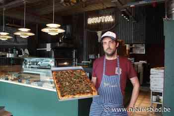Chef Matthias (37) belegt speciale pizza's met de beste ingrediënten uit Italië en Baskenland