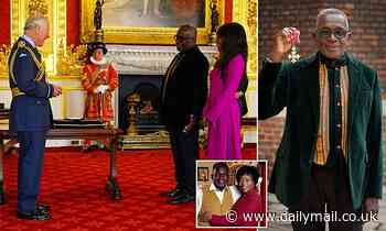 Prince Charles awards EastEnders actor Rudolph Waker CBE at St James Palace