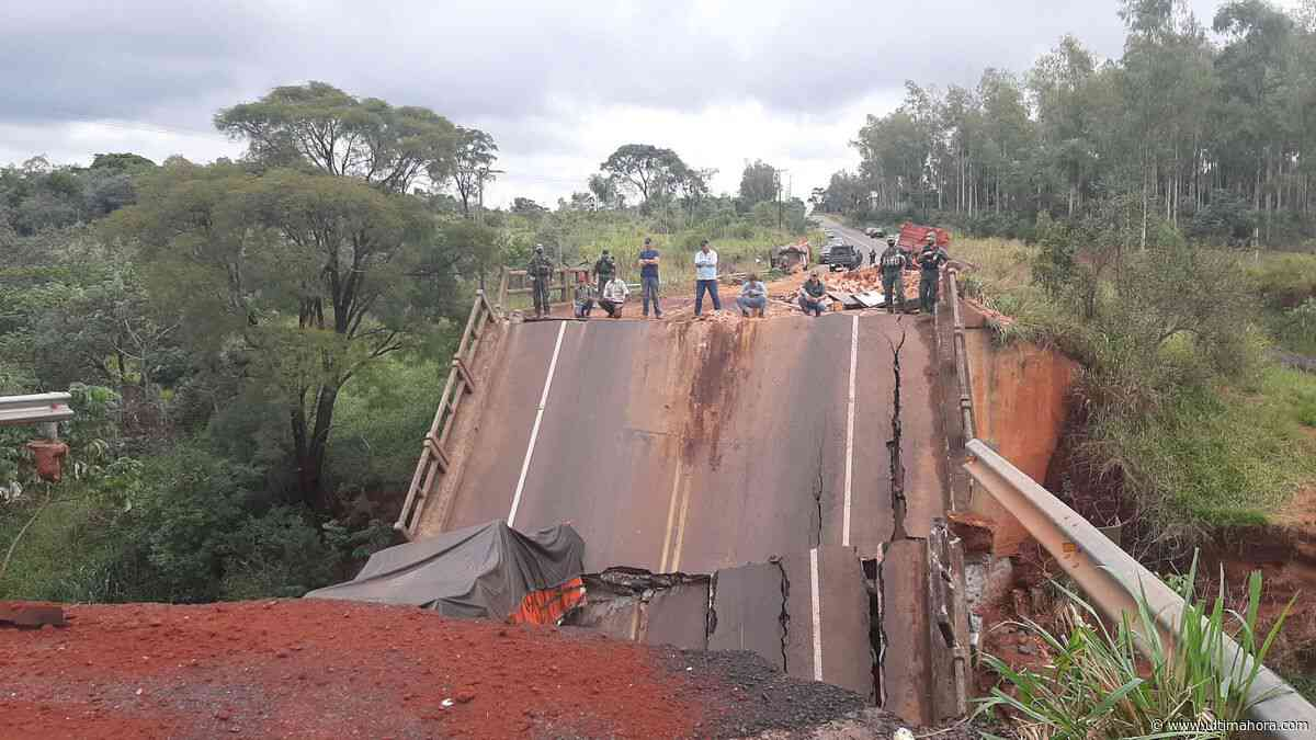 Fiscalía allana el MOPC por derrumbe de puente en Tacuatí - ÚltimaHora.com