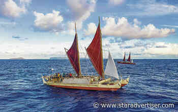 Hokule'a, Hikianalia arrive at Lalo, conduct NOAA research