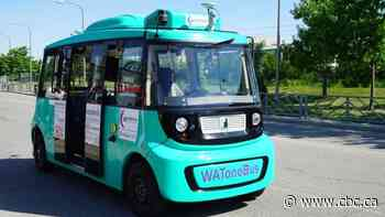 Driverless shuttle bus hits the road at University of Waterloo campus