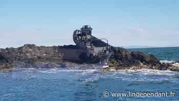 Port-Vendres - Tout le monde veut faire son selfie avec le bateau échoué au Cap Bear, la gendarmerie met en ga - L'Indépendant