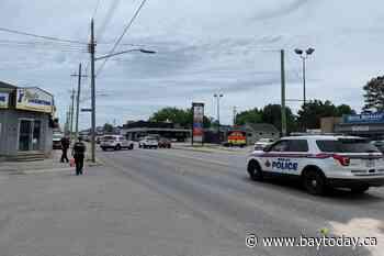 Caution on Lakeshore. Traffic accident blocking traffic