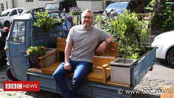 Man uses his van to create tiny town centre park in Kenilworth