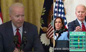 'Pay them more': Bizarre moment Biden whispers and blames EMPLOYERS for worker shortages