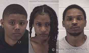 Two women and man arrested for 'beating and choking police officer' in Illinois