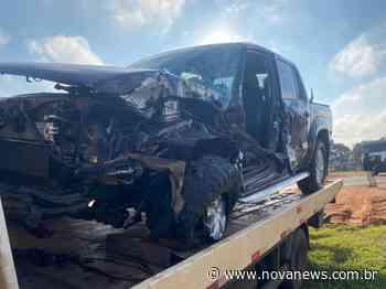 Caminhonete colide em caminhão na região de Ivinhema - Nova News - Nova News