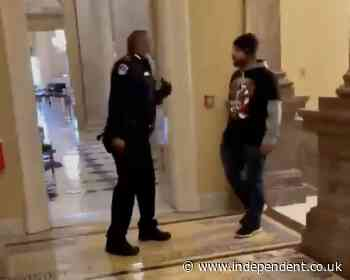 Capitol riot: Lawyer for rioter who confronted police officer blames media and 'crowd hysteria'