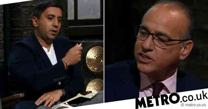 Dragons' Den gets fiery as Theo Paphitis and Tej Lalvani clash in heated moment