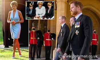 Princes William and Harry drastically scale back unveiling of statue of Princess Diana due to Covid