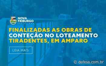 FINALIZADAS AS OBRAS DE CONTEÇÃO NO LOTEAMENTO TIRADENTES, EM AMPARO - Defesa - Agência de Notícias