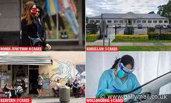 COVID-19 Australia: How coronavirus has already spread in Sydney with infected cases in 26 SUBURBS - Daily Mail