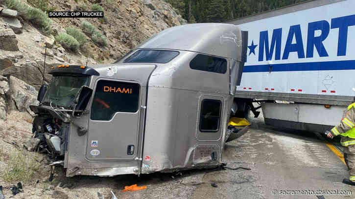 EB I-80 Near Donner Summit Blocked Due To Jackknifed Big Rig