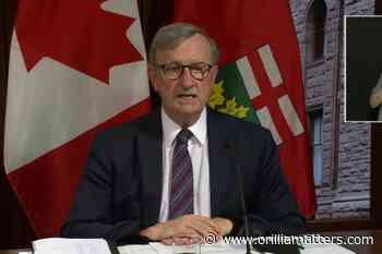 WATCH: Public health officials don't want to rush into reopening Ontario for fear of moving too fast - OrilliaMatters