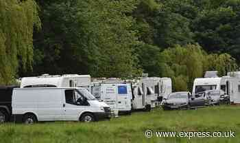 Travellers are finally evicted from site only to set up new camp 10 minutes away - Express