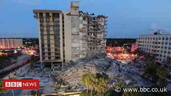 Miami building collapse leaves 99 people unaccounted for
