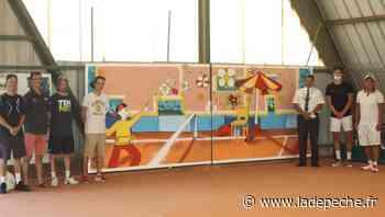 Aucamville. Une fresque sur les courts du Tennis Club - LaDepeche.fr