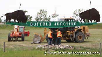 Buffalo Junction sign preserved | Fort Macleod Gazette - Macleod Gazette Online
