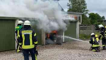Harrislee : Feuerwehr löscht brennende Garage | shz.de - shz.de