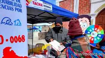 Tacna: entregan abrigo y alimentos para familias en la provincia de Candarave - LaRepública.pe