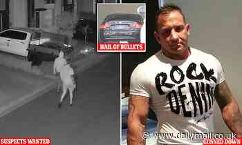 Night vision shows suspects place GPS tracker on Queensland bikie's car