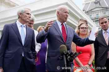 Biden extols bipartisan infrastructure deal as a good start