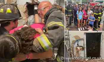 Long Island teen rescued by fire fighters after she's trapped inside bank vault turned dressing room