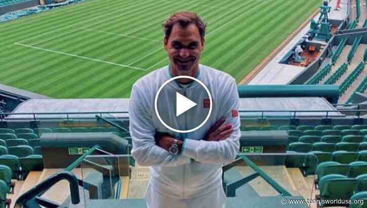 Wimbledon 2021: Roger Federer trains on the Chruch Road lawns!