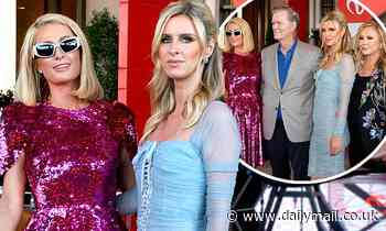 Paris Hilton poses up with sister Nicky AND parents Kathy and RIck at Resorts World opening in Vegas