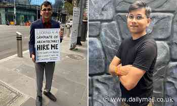 Architect who failed with 200 applications finds job after standing on street with 'hire me' sign