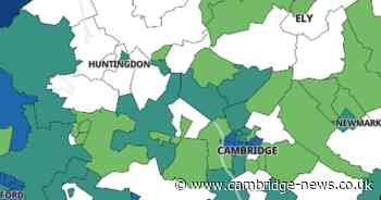 Map shows every place that is virtually Covid free in Cambs