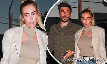 Petra Ecclestone looks chic as she steps out for dinner withfiancé Sam Palmer in West Hollywood