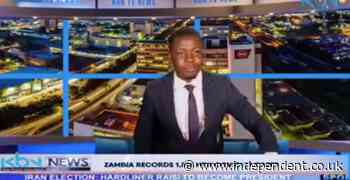 Zambian TV presenter interrupts live broadcast to claim on-air he hadn't been paid by news station