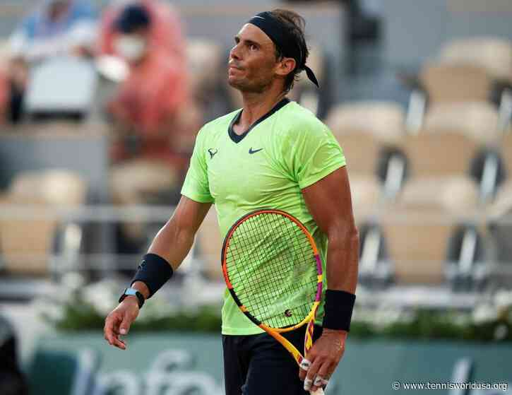 'If you look at Rafael Nadal's numbers from 2020 to 2021...', says coach